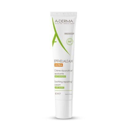 A-Derma Epitheliale A.H Ultra Creme Reparador 40ml, creme reparador pode ser utilizado em todas as peles enfraquecidas em consequência de atos dermatológicos superficiais e danos superficiais na epiderme que podem deixar marcas na pele.