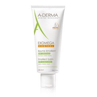 A-Derma Exomega Control Bálsamo Emoliente 200ml,o bálsamo emoliente EXOMEGA CONTROL acalma todas as peles secas de tendência atópica desde o nascimento.