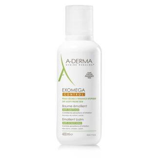 A-Derma Exomega Control Bálsamo Emoliente 400ml, o bálsamo emoliente EXOMEGA CONTROL acalma todas as peles secas de tendência atópica desde o nascimento.