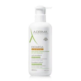 A-Derma Exomega Control Leite Emoliente 400ml, o leite emoliente EXOMEGA CONTROL acalma todas as peles secas de tendência atópica desde o nascimento.