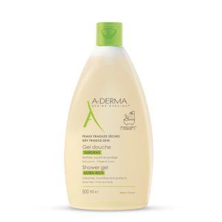 A-Derma Gel Duche Gordo Ultra Rico 500ml, gel duche ultra rico da A-DERMA limpa, nutre e acalma a pele seca