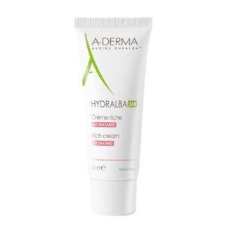 A-Derma Hydralba Creme Hidratante Rico 40ml, creme hidratante rico hidrata instantaneamente, durante 24 horas. O cuidado de base para uma pele bonita e saudável.