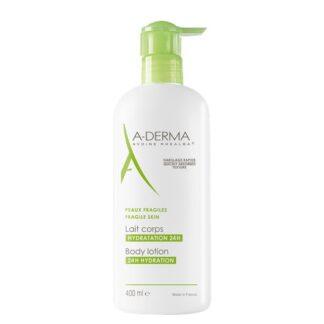 A-Derma Leite Corporal 24H Hidratante 400ml,dispõe de uma textura inédita que seduz 9 em cada 10 mulheres.