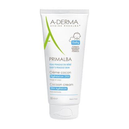 A-Derma Primalba Creme Cocon 200ml, o creme cocon PRIMALBA hidrata intensamente e de forma duradoura, acalma e protege a função de barreira da pele frágil do bebé.