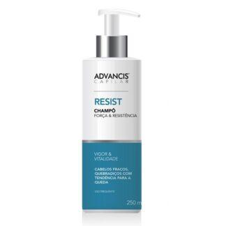 Advancis Capilar Champô Resist 250ml, foi especialmente desenvolvido para a higiene diária de cabelos fracos e quebradiços com tendência para a queda