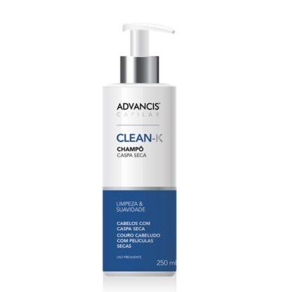 Advancis Capilar Champô Clean K 250mlfoi especialmente desenvolvido para cabelos com caspa seca e couro cabeludo com tendência para formação de pequenas películas secas