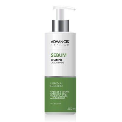Advancis Capilar Champô Sebum 250ml,foi especialmente desenvolvido para cabelos e couro cabeludo com tendência para a oleosidade.