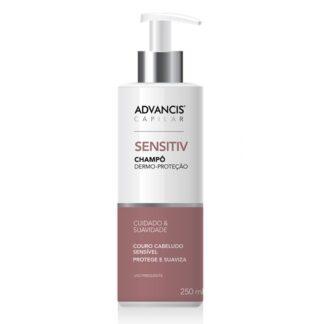 Advancis Capilar Champô Sensitiv 250ml, foi especialmente desenvolvido para o máximo conforto e proteção de um couro cabeludo sensibilizado