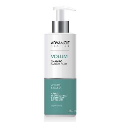 Advancis Capilar Champô Volum 250ml, foi especialmente desenvolvido para cabelos finos, fracos e sem volume.