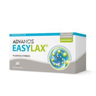 Advancis Easylax 20 Comprimidos, suplemento alimentar. Com a finalidade de regulação do trânsito intestinal e ainda equilíbrio da flora intestinal.