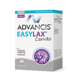 Advancis Easylax Carvão 45 Comprimidos,suplemento alimentar. Com a finalidade de aliviar a flatulência, aliviar a sensação de barriga inchada e aliviar o desconforto intestinal.