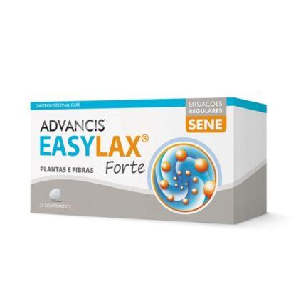 Advancis Easylax Forte 20 Comprimidos,suplemento alimentar. Com a finalidade de regular o trânsito intestinal e equilibrar a flora intestinal.