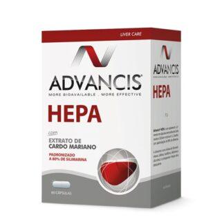 Advancis Hepa 60 Capsulas, contém umaação anti oxidante e protetora hepática. De tal forma que proporciona um funcionamento adequado do fígado, especialmente durante os períodos de maior agressão ou quando este se encontra mais debilitado.