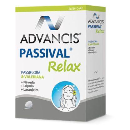 Advancis Passival Relax 30 comprimidos, é um suplemento alimentar. Com a finalidade de garantir dias mais calmos e sem ansiedade.