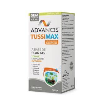 Advancis Tussimax 150mltem na sua composição uma associação de várias plantas de uso tradicional tais como tomilho, sabugueiro, alfazema, pinheiro silvestre, líquen da islândia