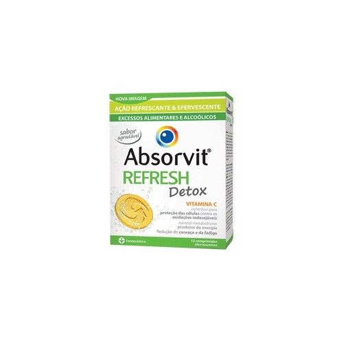 Absorvit Refresh Detox 12 Comprimidos Efervescentes - Pharma Scalabis