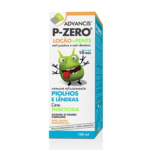 Advancis P-zero Loção Anti-piolhos 100ml + Pente - Pharma Scalabis
