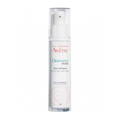 Avène Cleanance Women Cuidado de Noite 30ml, o novo cuidado de noite ajuda a reduzir as manchas e marcas residuais, e contribui para suavizar a textura da pele. Para uma pele com tendência a imperfeições.