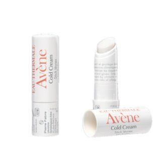Avene Cold Cream Stick Labial 4gr nutre, suaviza e repara os lábios muito secos. Crianças e adultos.