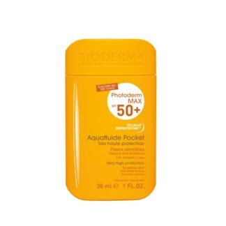 Bioderma Photoderm MAX Aquafluide Pocket SPF50+ 30ml proteção máxima sempre à mão para todo o tipo de peles