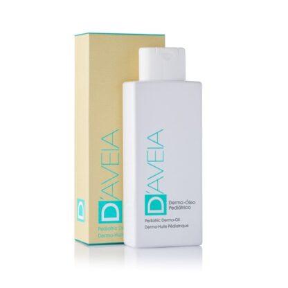 D-Aveia Dermo Óleo Pediátrico 200ml, óleo de limpeza de origem vegetal para o banho emoliente do bebé e da criança