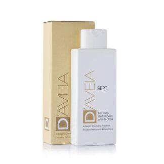 D-Aveia Emulsão Limpeza Sept 200ml, emulsão de limpeza que permite uma higiene antisséptica suave e delicada das mãos e do corpo, preservando o equilíbrio fisiológico cutâneo e reforçando as desfesas naturais da pele