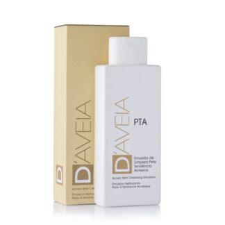 D-Aveia Emulsão de Limpeza PTA 200ml, especificamente desenvolvida para a pele oleosa ou com tendência a acneica.