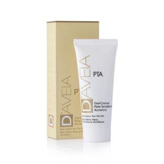 Gel-creme com uma textura oil-free, não comedogénico e rapidamente absorvido, especificamente desenvolvido para a hidratação e cuidado diário específico da pele oleosa com tendência acneica