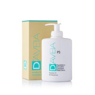 D-Aveia PS Pediátrico Emulsão Limpeza 300ml, emulsão de limpeza constituída por Aveia Coloidal, com reconhecidas propriedades hidratantes, emolientes, protetoras, suavizantes e antioxidantes.