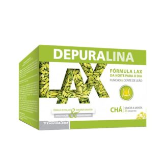 A Depuralina Lax Chá é uma infusão à base de: Cavalinha, Funcho, Sene, Dente de Leão e Menta. Regular o funcionamento do trânsito intestinal.