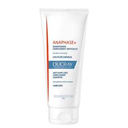Ducray Anaphase Champô AntiQueda 200ml, para complementar todos os tratamentos antiqueda. Fortalece e proporciona volume ao cabelo. Pode ser usado durante a gravidez, amamentação e tratamento de cancro.