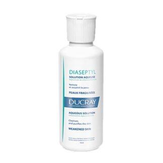 Ducray Diaseptyl Solução 125ml, Solução aquosa de digluconato de clorexidina 0,2% que limpa e purifica a pele.