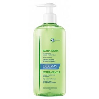 Ducray Extra-Doux Champô Dermoprotetor 400ml higiene diária dos cabelos normais e delicados de toda a família.