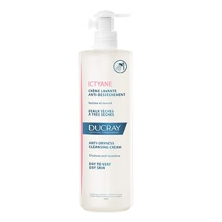 Ducray Ictyane Creme Lavante 400ml, higiene da pele seca a muito seca.
