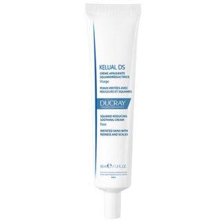 Ducray Kelual DS Creme 40ml, creme suavizante queratorredutor anti-recidiva. Elimina as escamas e suaviza a pele irritada