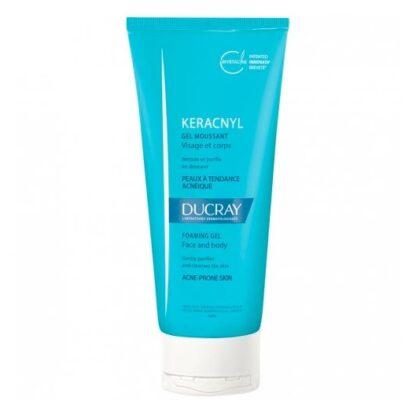 Ducray Keracnyl Gel Espuma 200ml, higiene da pele com tendência acneica