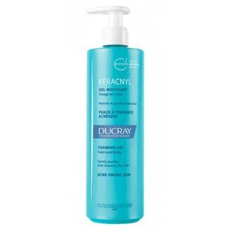 Ducray Keracnyl Gel Espuma 400ml, higiene da pele com tendência acneica