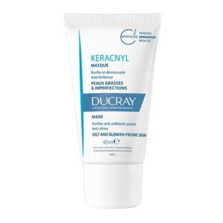 Ducray Keracnyl Máscara Tripla Ação 40ml, cuidado purificante da pele mista a oleosa