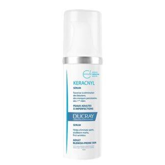 Ducray Keracnyl Sérum Global Mulher 30ml, cuidado tripla ação para a pele de tendência acneica da mulher adulta