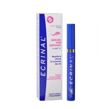 O Rímel Preto Fortificante ECRINAL® maquilha e fortifica as pestanas, dando-lhes volume e alongando-as visivelmente. Fórmula hipoalergénica, que estimula o crescimento natural das pestanas.