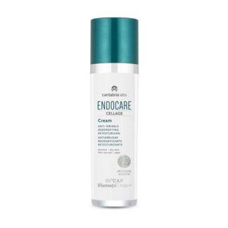 Endocare Cellage Creme Anti-Envelhecimento Reestruturante 50ml, creme com uma textura rica e nutritiva, especificamente desenvolvido para a hidratação profunda e conforto da pele normal a seca.