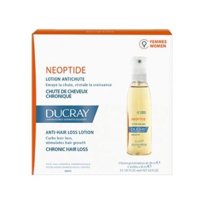 Ducray Neoptide Loção Mulher 3x30ml, Loção sem enxaguar para a queda de cabelo crónica na mulher.
