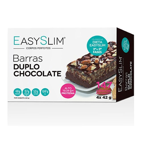 Easyslim Barras Proteicas Duplo Chocolate 4 Unidades - Pharma Scalabis