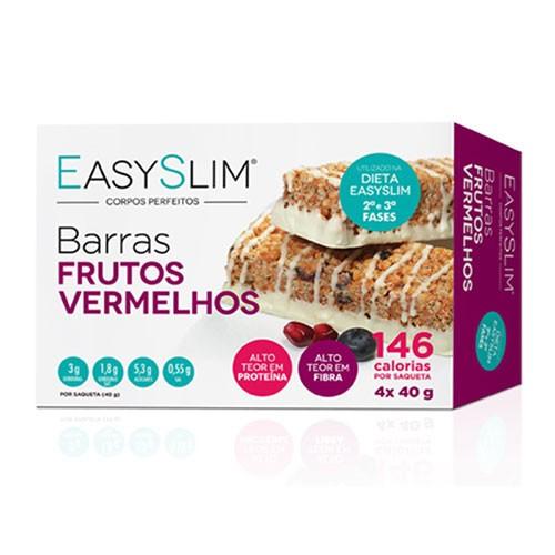 Easyslim Barras Proteicas Frutos Vermelhos 4 Unidades - Pharma Scalabis