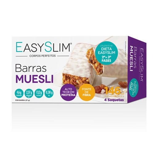 Easyslim Barras Proteicas de Muesli 4 Unidades - Pharma Scalabis