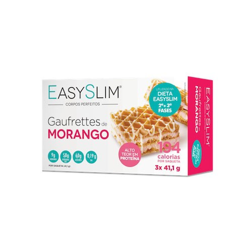 Easyslim Gaufrettes de Morango 3 Unidades - Pharma Scalabis