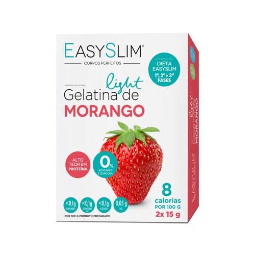 Easyslim Gelatina Light Morango 2 Saquetas - Pharma Scalabis