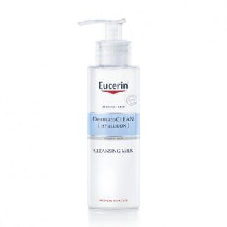 Eucerin DermatoCLEAN Emulsão de Limpeza Suave 200ml, esta emulsão suave mas eficaz remove as impurezas e a maquilhagem e permite à pele manter o seu equilíbrio