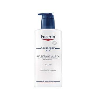 Eucerin UreaRepair Plus Gel Banho 5% Ureia 400ml, gel de banho que limpa suavemente a pele muito seca.
