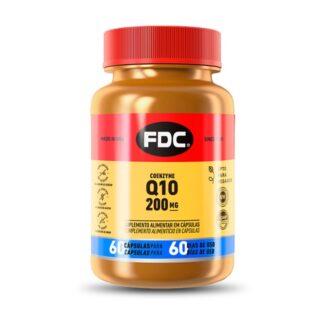 FDC Coenzima Q10 200mg 60 Cápsulas, a coenzima Q10 é conhecida também como ubiquinona ou ubidecarenona, uma molécula presente na membrana mitocondrial